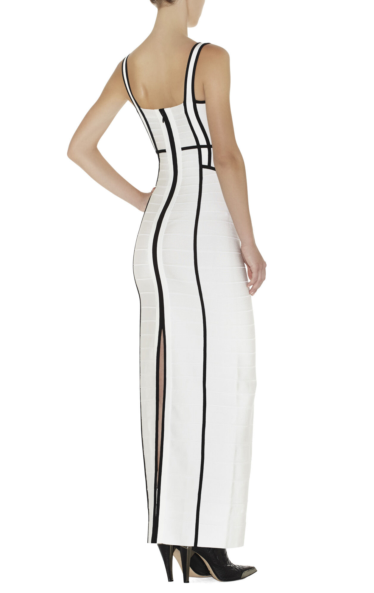 Helena Border-Banding Dress