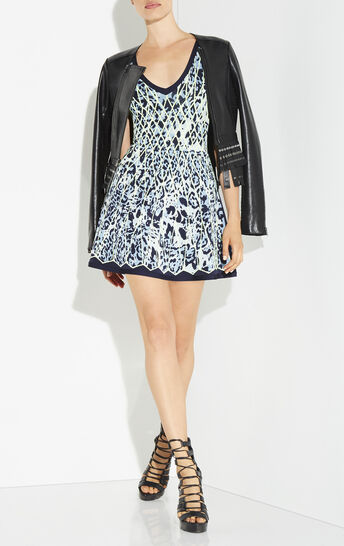 Kollette Caged Animal Jacquard Dress
