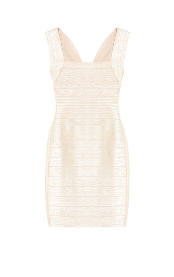 Lulu Woodgrain Foil Print Dress