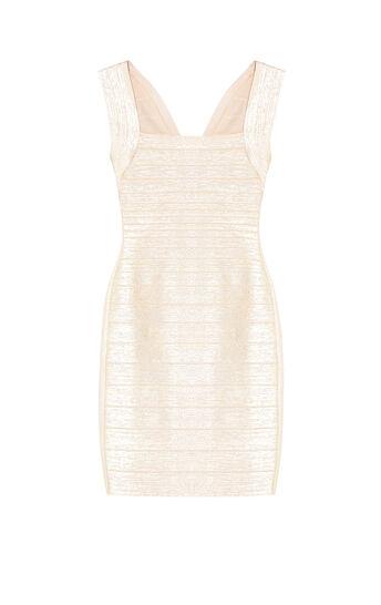Lulu Woodgrain Foil Print Dress