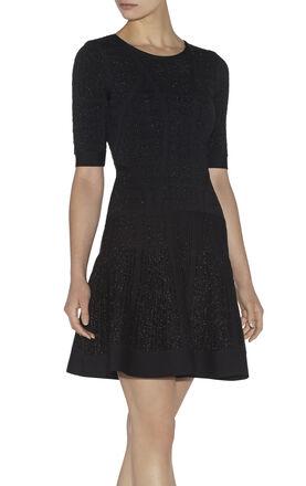 Clara Textured Jacquard Yarn Dress