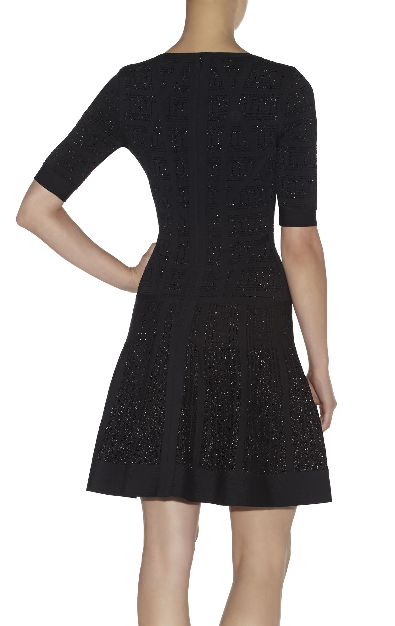 Clara Textured Jacquard Yarn Dress