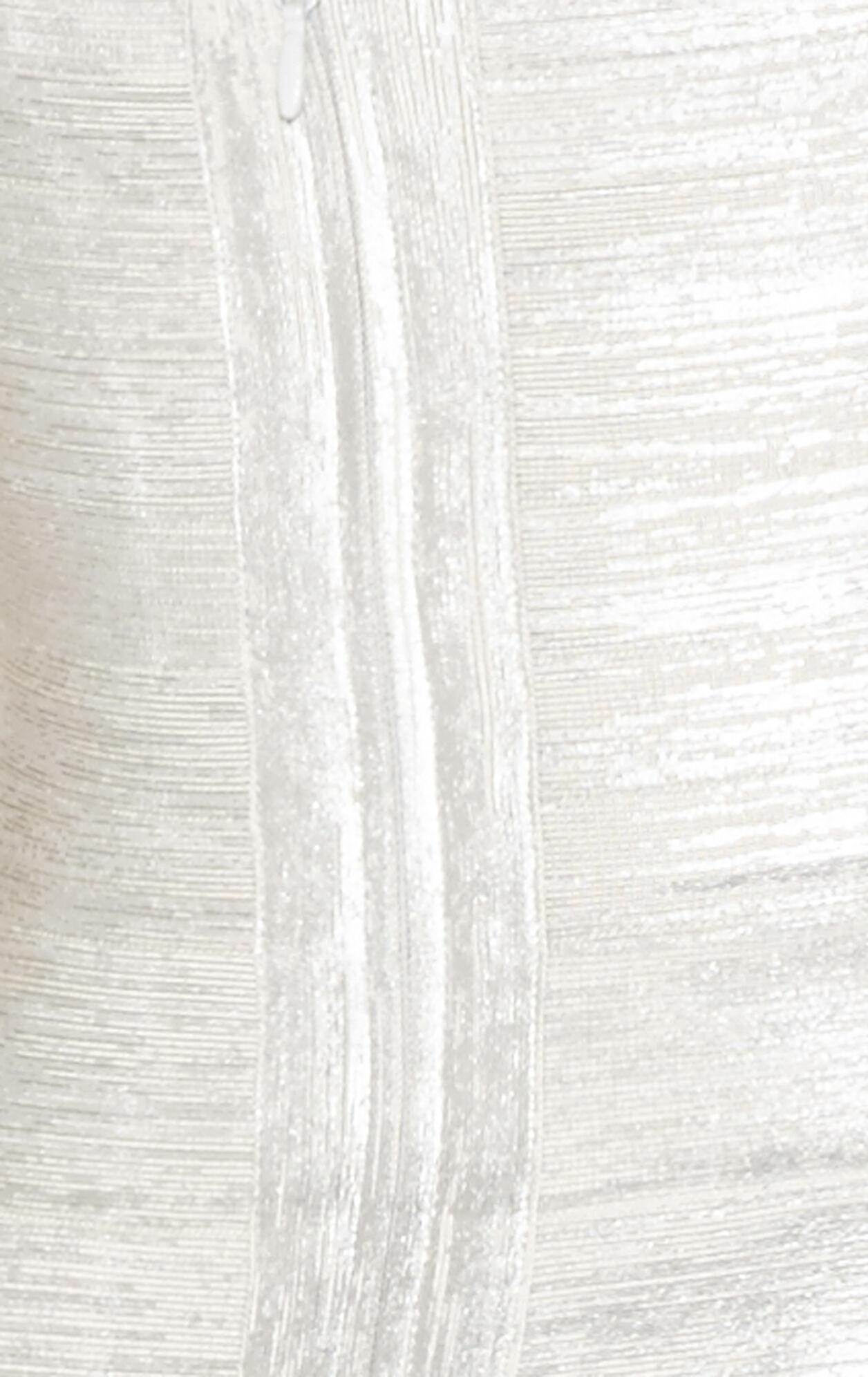 Breton Woodgrain Foil-Print Dress