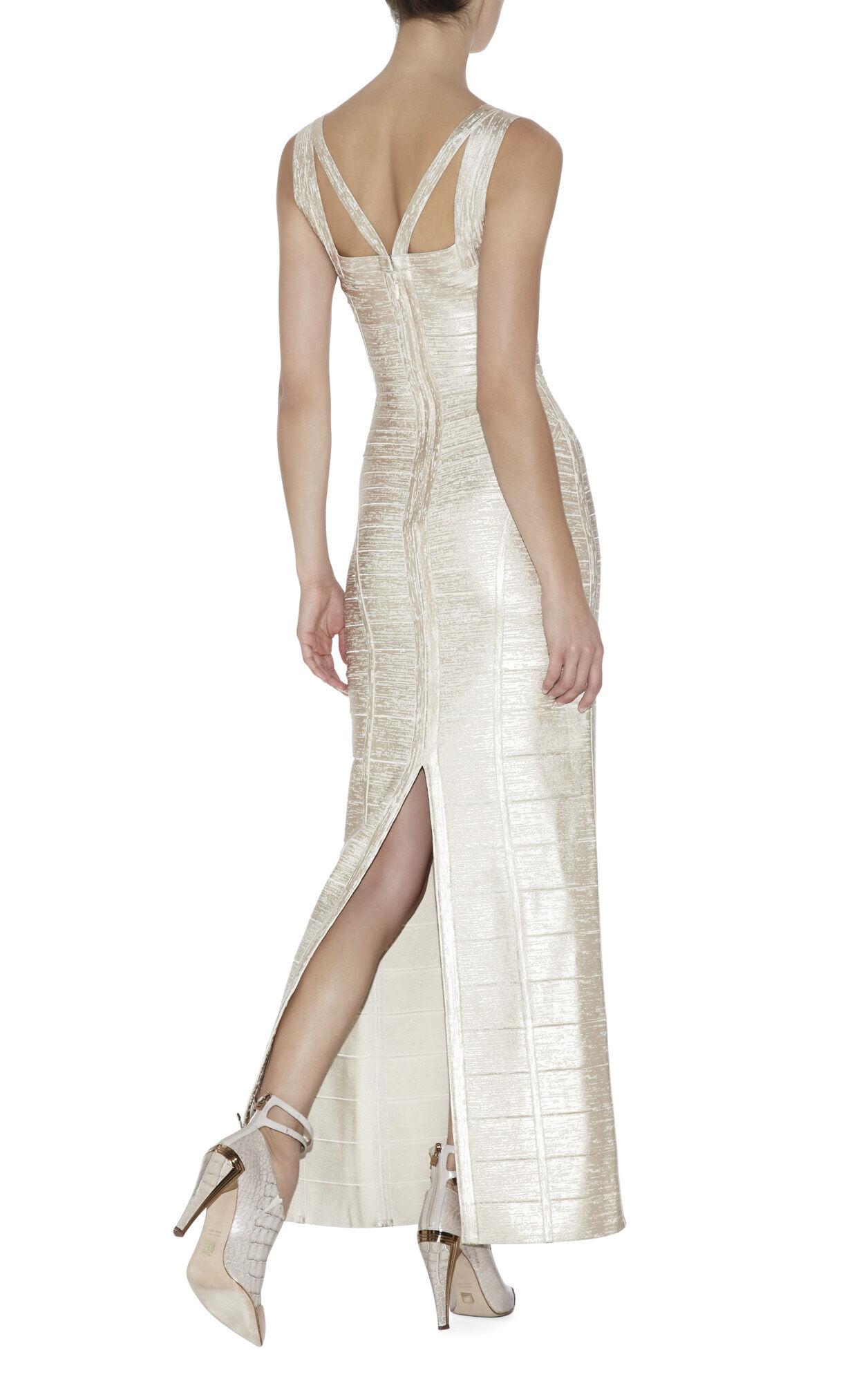 Alenis Woodgrain Foil-Print Dress