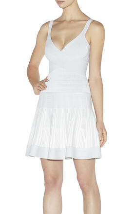Thana Textured Jacquard Yarn Dress