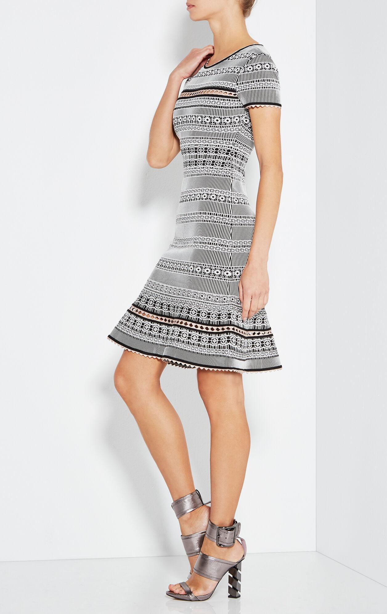 Shelby Plaited Lace Trumpet Dress