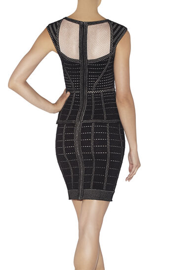 Hindi Cage Plated Pointelle Dress