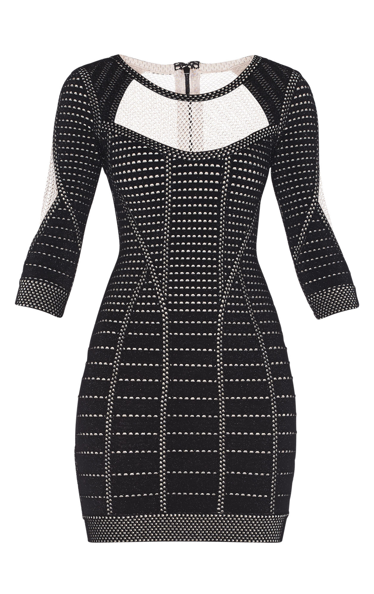 Germain Cage Plated Pointelle Dress