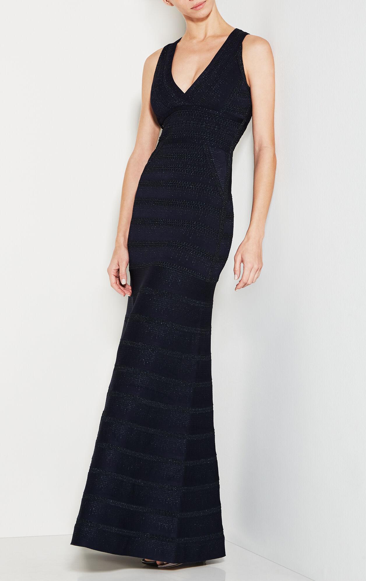 Sofia Metallic Crochet Gown