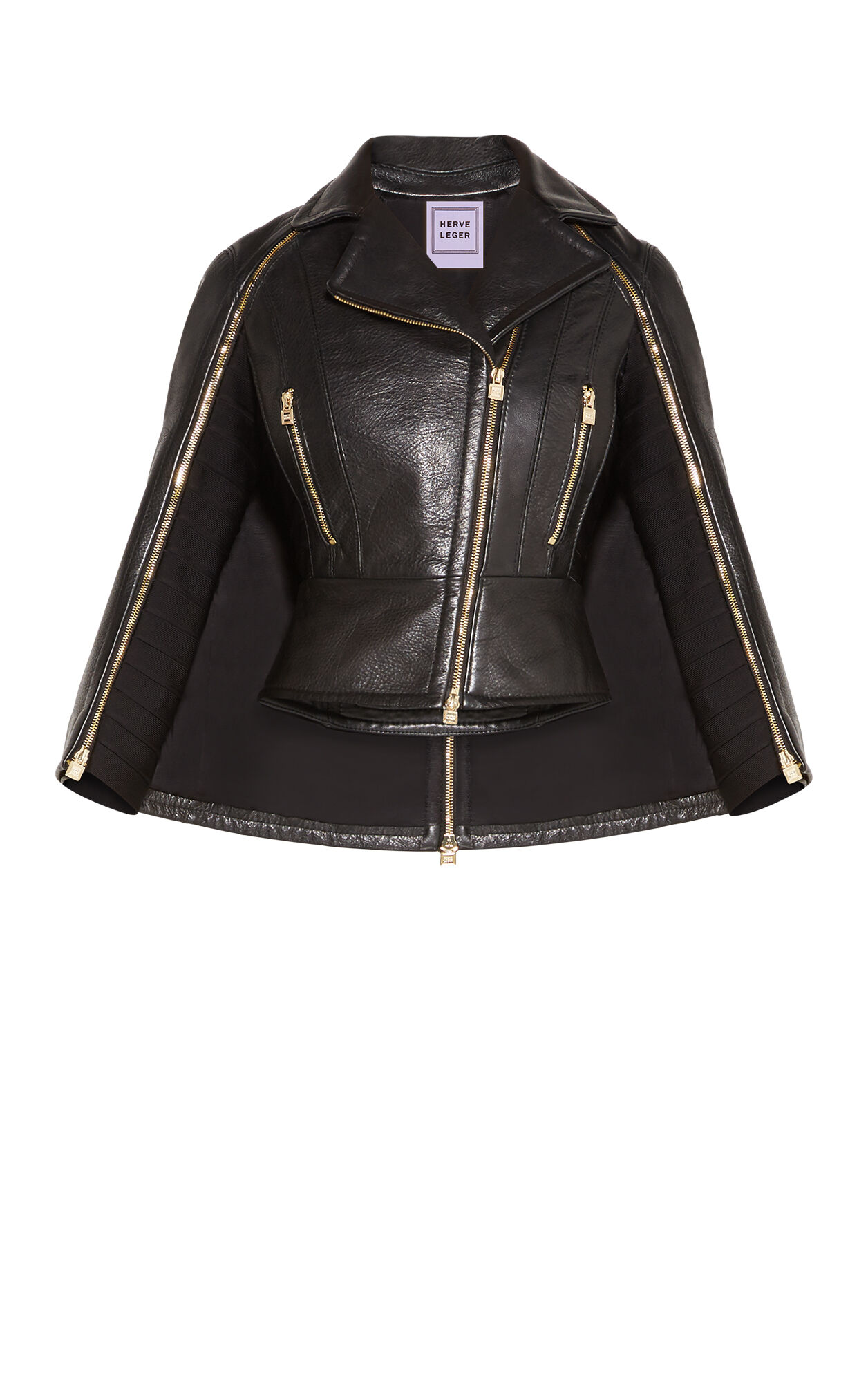 Bennet Leather Cape Jacket