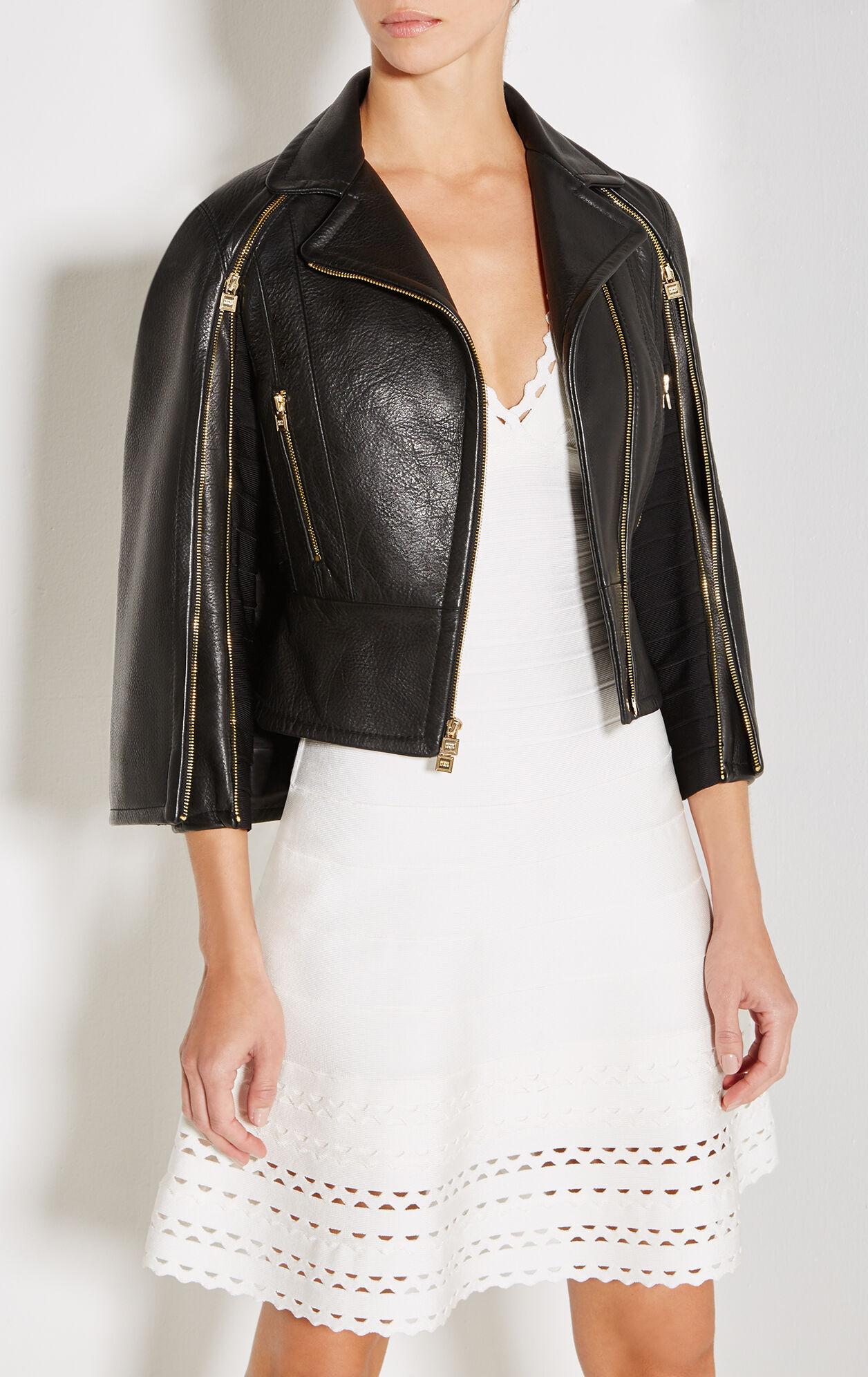 Bennet Leather Cape Jacket