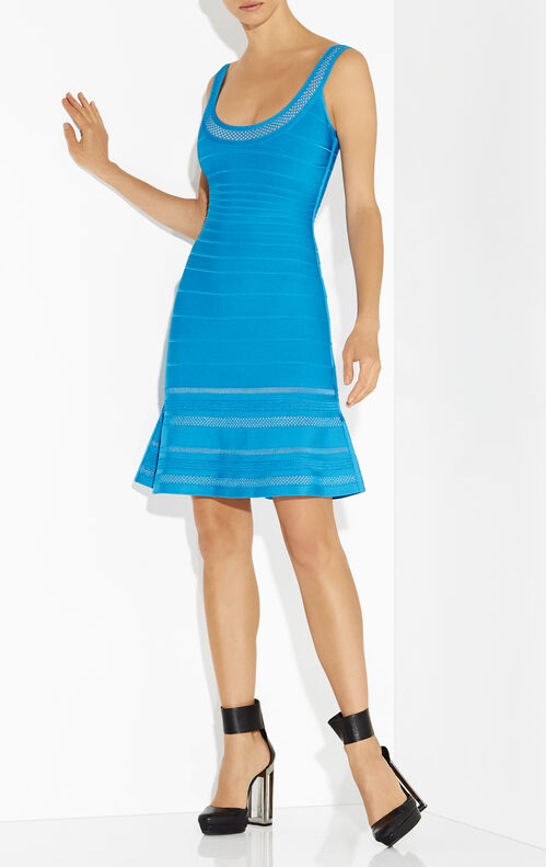 Hailee Multi-Crochet Stitch Flounce Dress
