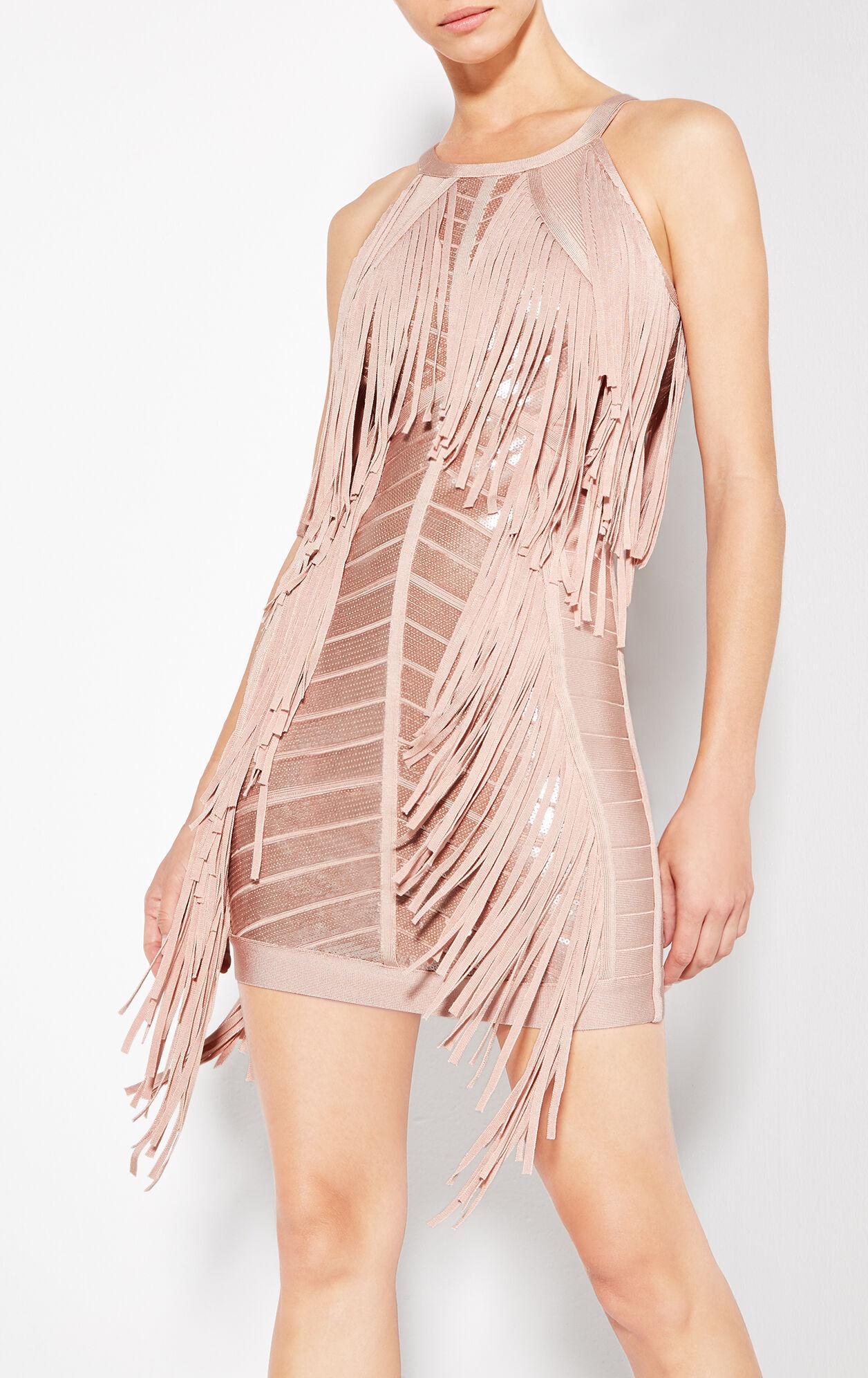 Krista Sequined Fringe Dress