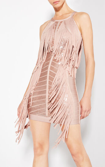 Krista Sequined Fringe Dress