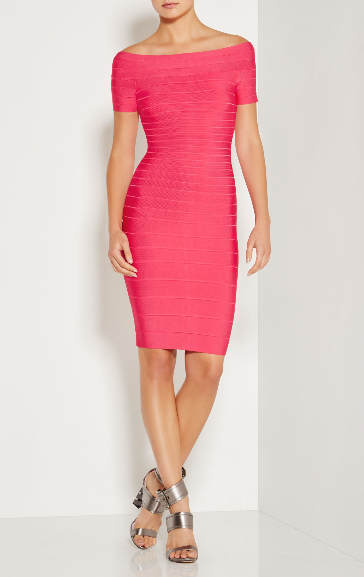 Carmen Off-The-Shoulder Signature Bandage Dress
