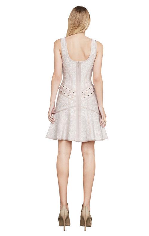 Katrina Lace-Up Grommet Dress