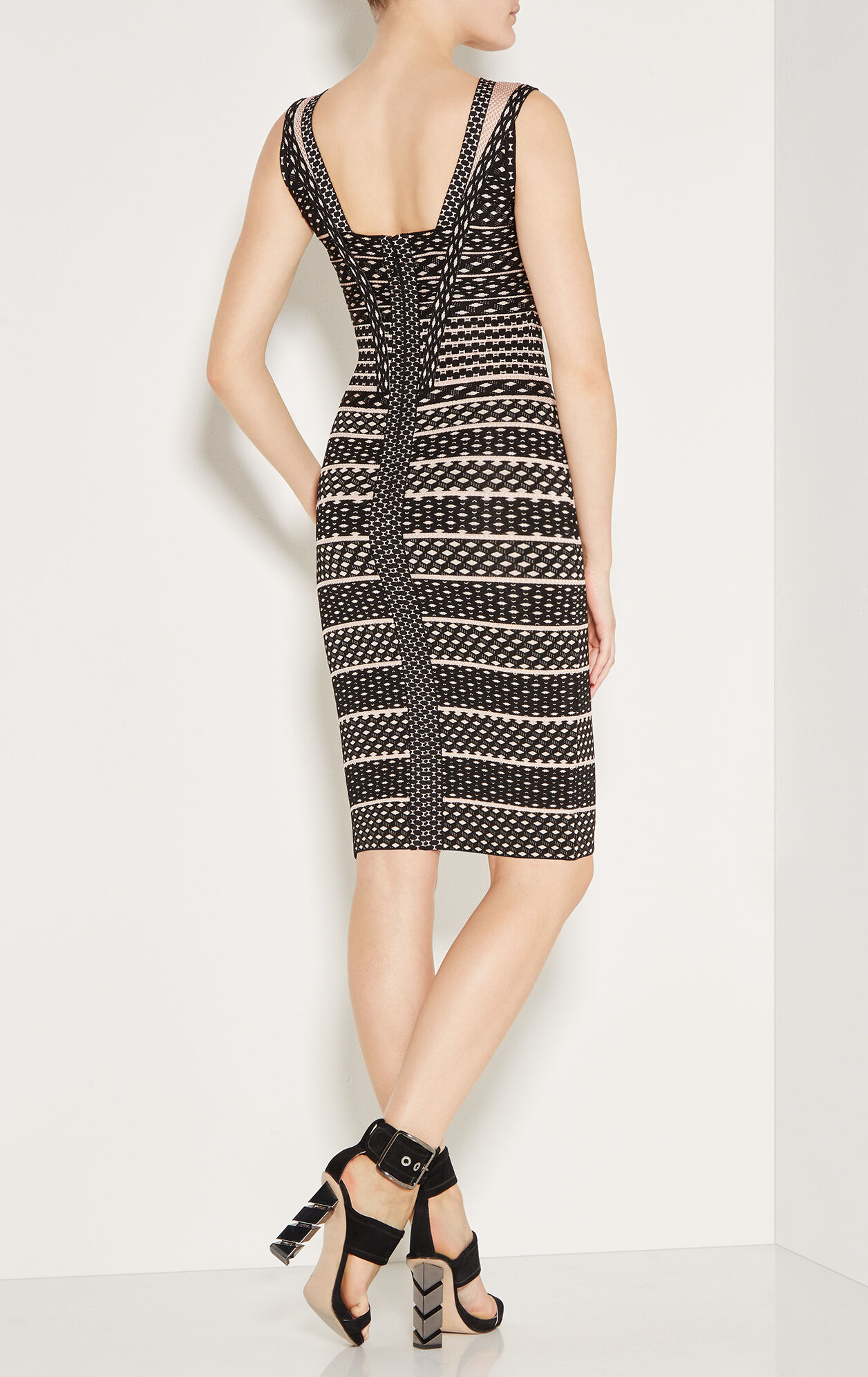 Seline Jacquard Mesh Dress