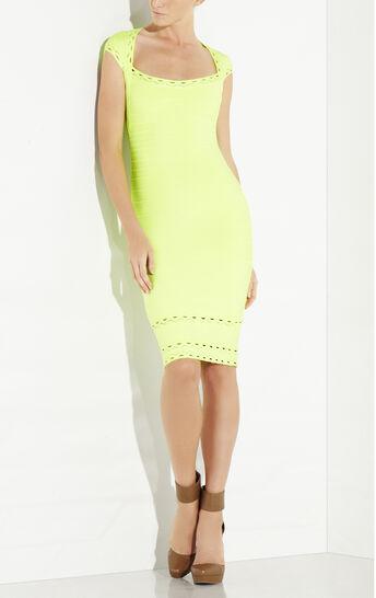 Delfine Scallop Embroidered Dress