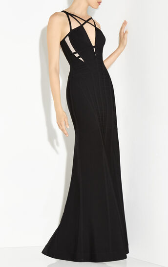 Camelle Cutout Cage Gown