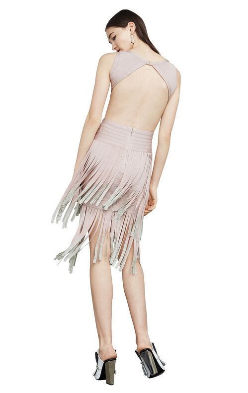 Ieva Metallic Fringe Bandage Dress