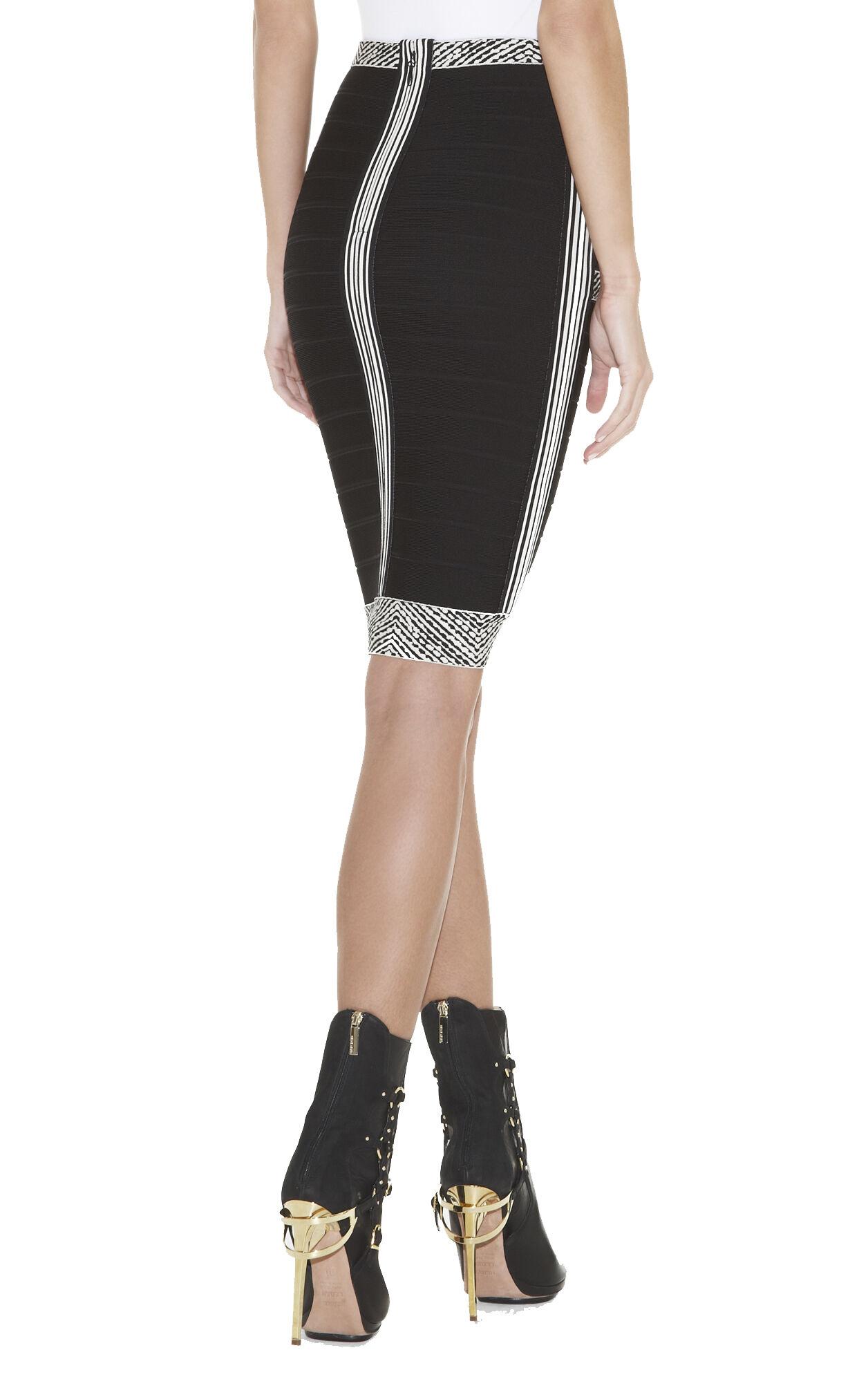 Nayeli Chevron-Jacquard Bandage Skirt