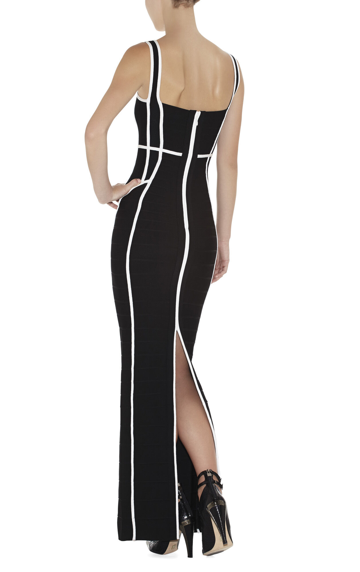 Helena Border-Banding Dress