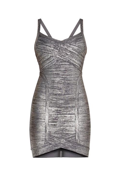 Kourtney Woodgrain Foil Dress