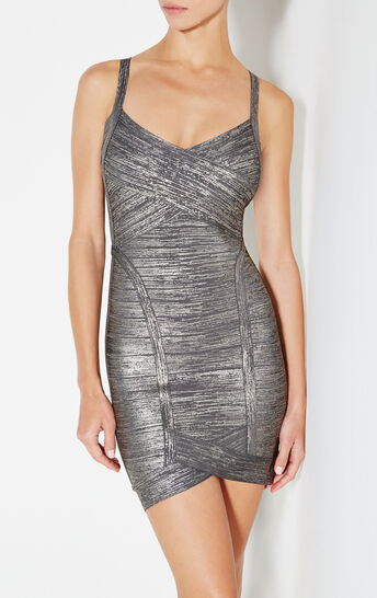 Kourtney Woodgrain Foil Dress