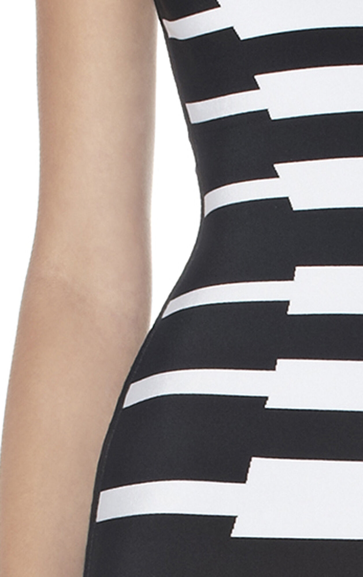GEOMETRIC JACQUARD BANDAGE DRESS
