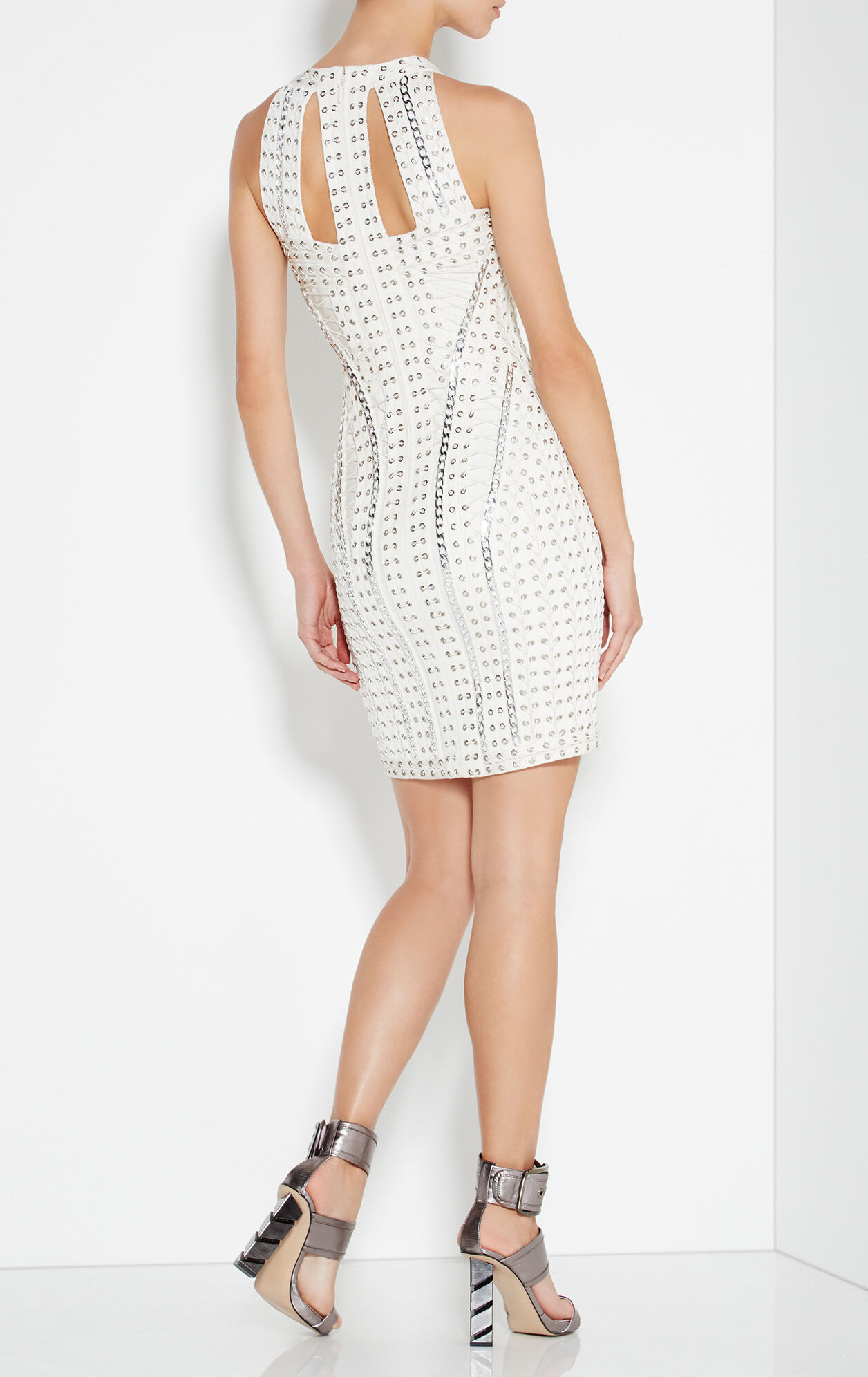 Felicity Eyelet Chain Lace-Up Dress