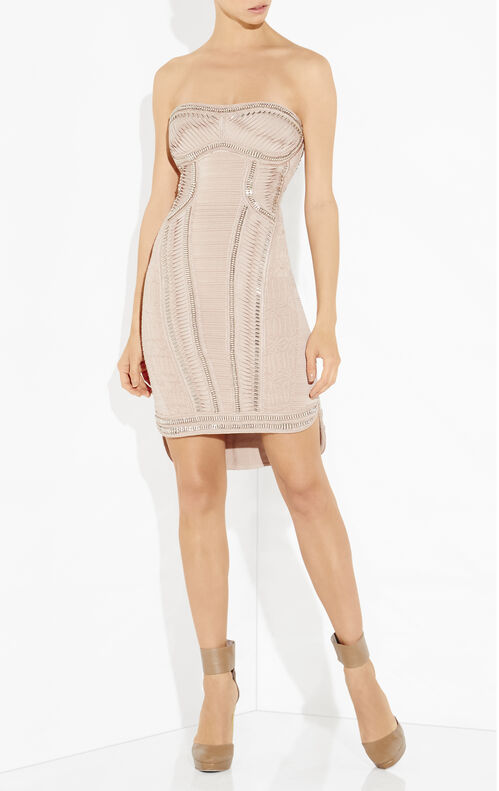 Baely Metal Crochet Embroidered Dress