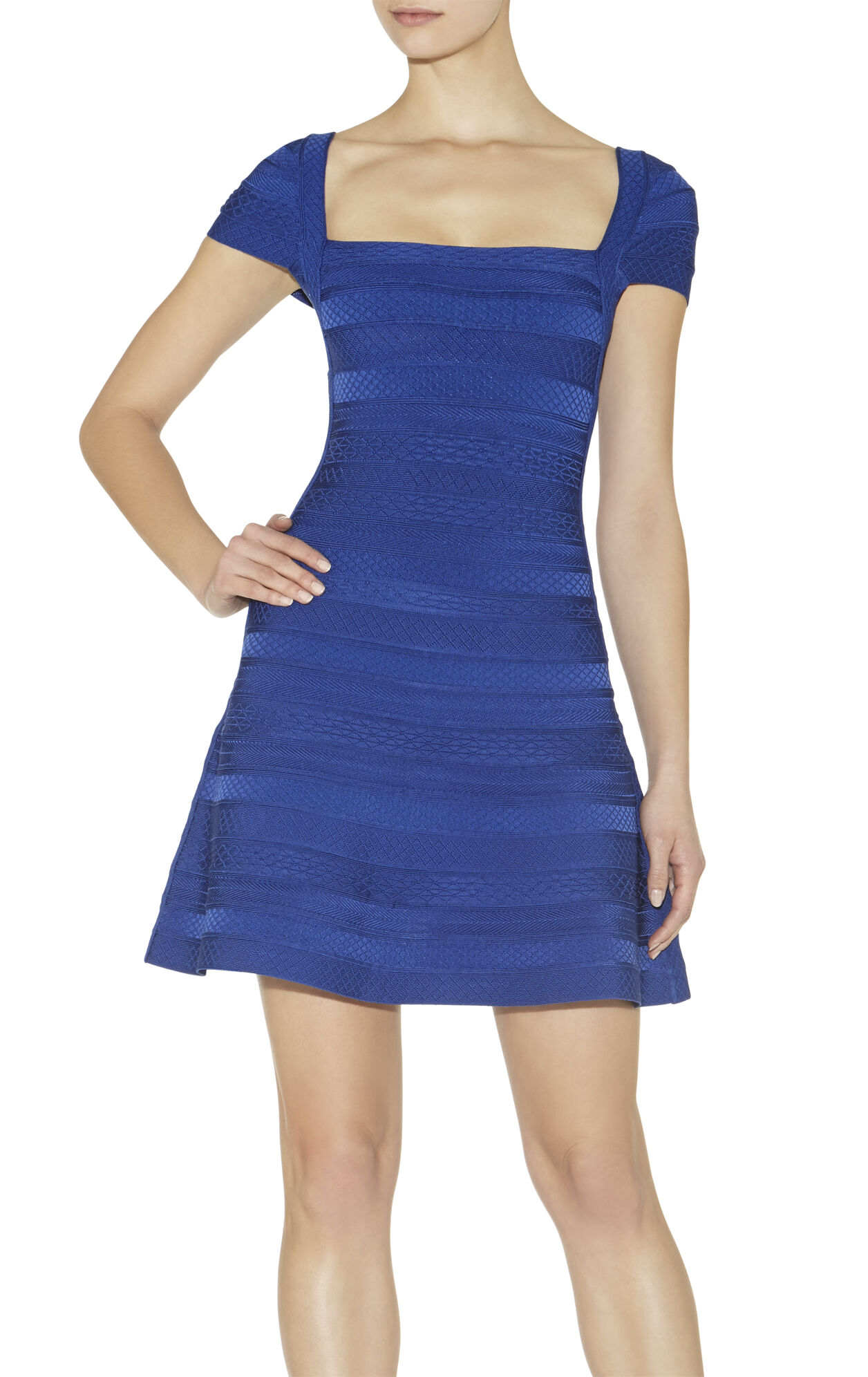 Makayla Embossed-Texture Dress