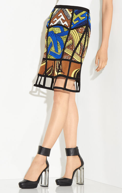 Maylin Tribal Jacquard Cutout Skirt