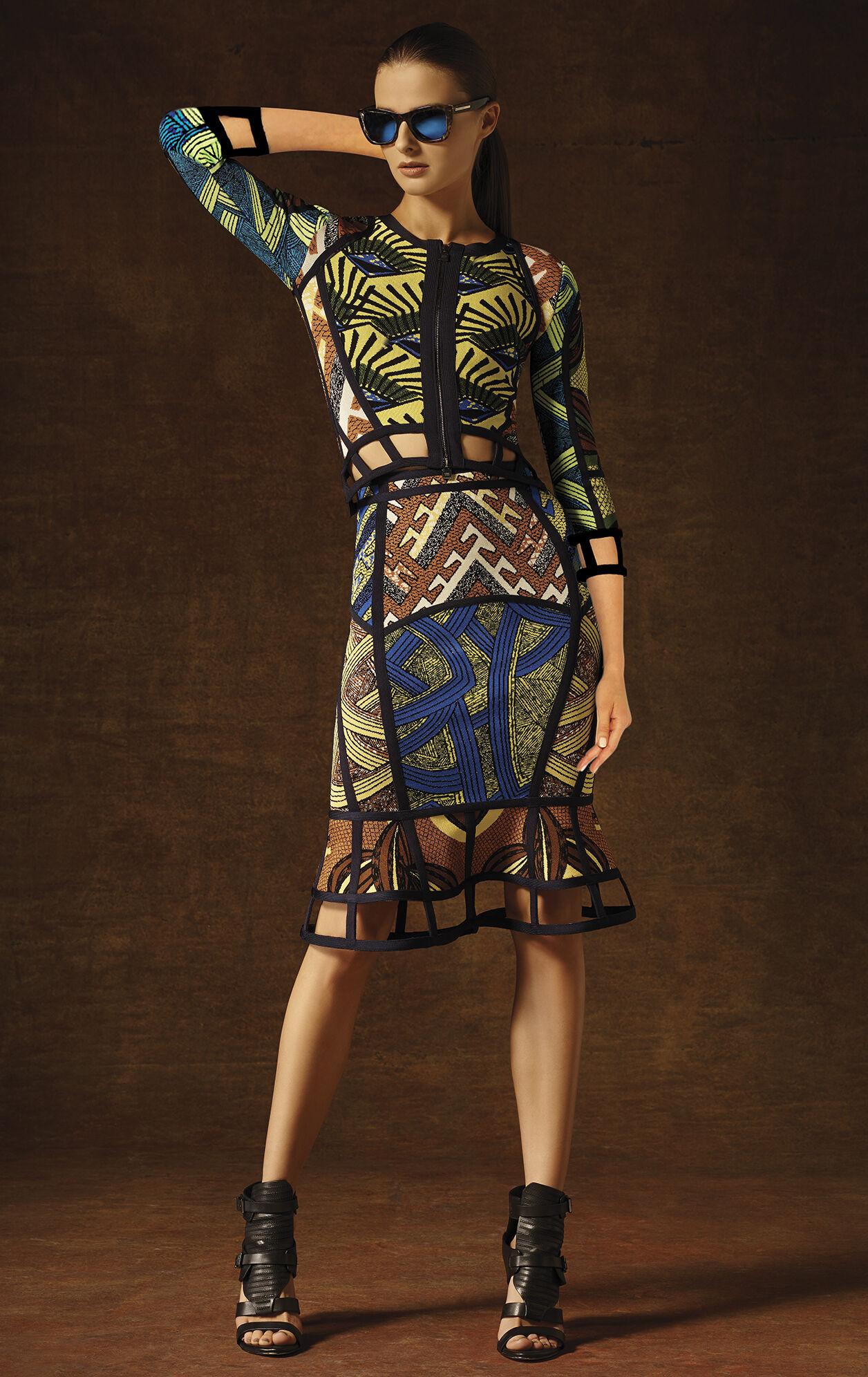 Maylin Tribal Jacquard Cutout Skirt