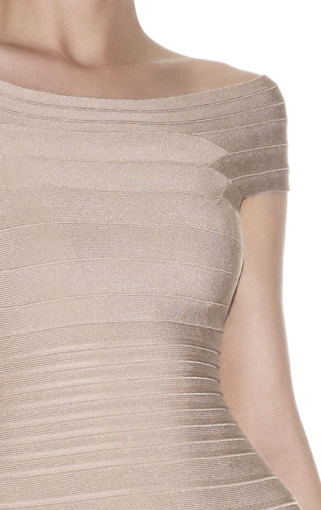 Marina Signature Off-The-Shoulder Bandage Dress