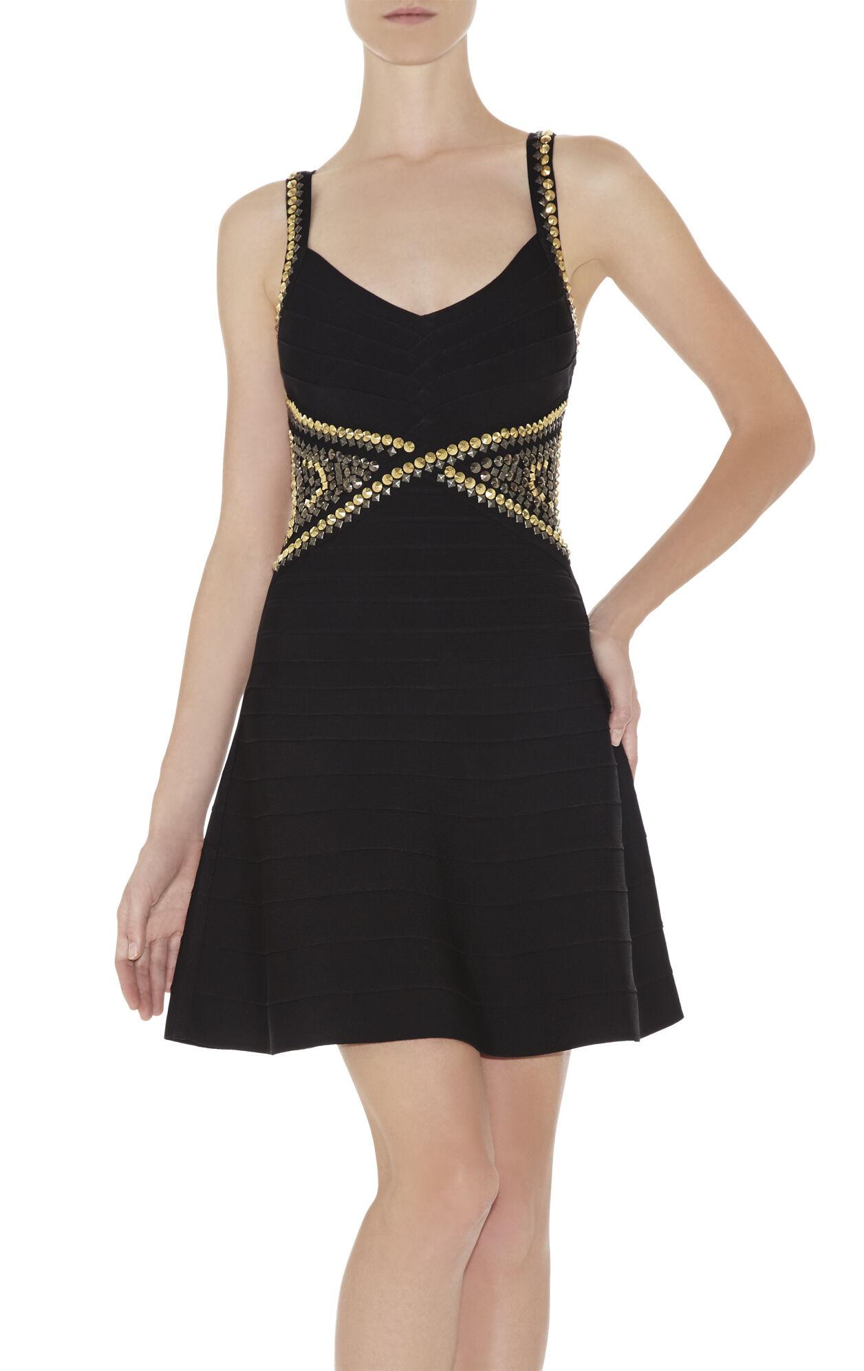Ayia Studded A-Line Dress