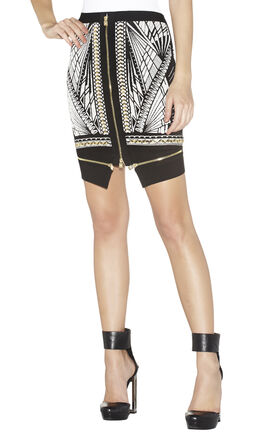 Argan Tattoo-Jacquard Skirt