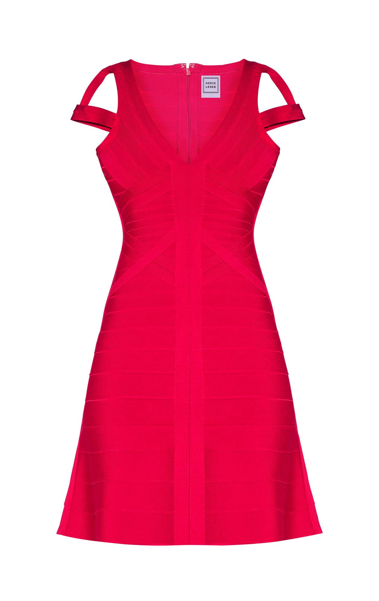 Karly Signature Cold-Shoulder Flute Dress