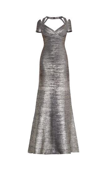 Colette Woodgrain Foil Print Gown