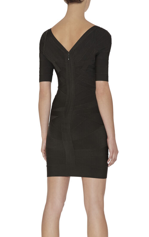 Raquel Signature Angled-Bandage Dress