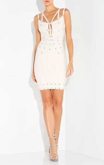 Giulia Cutout Studded Dress