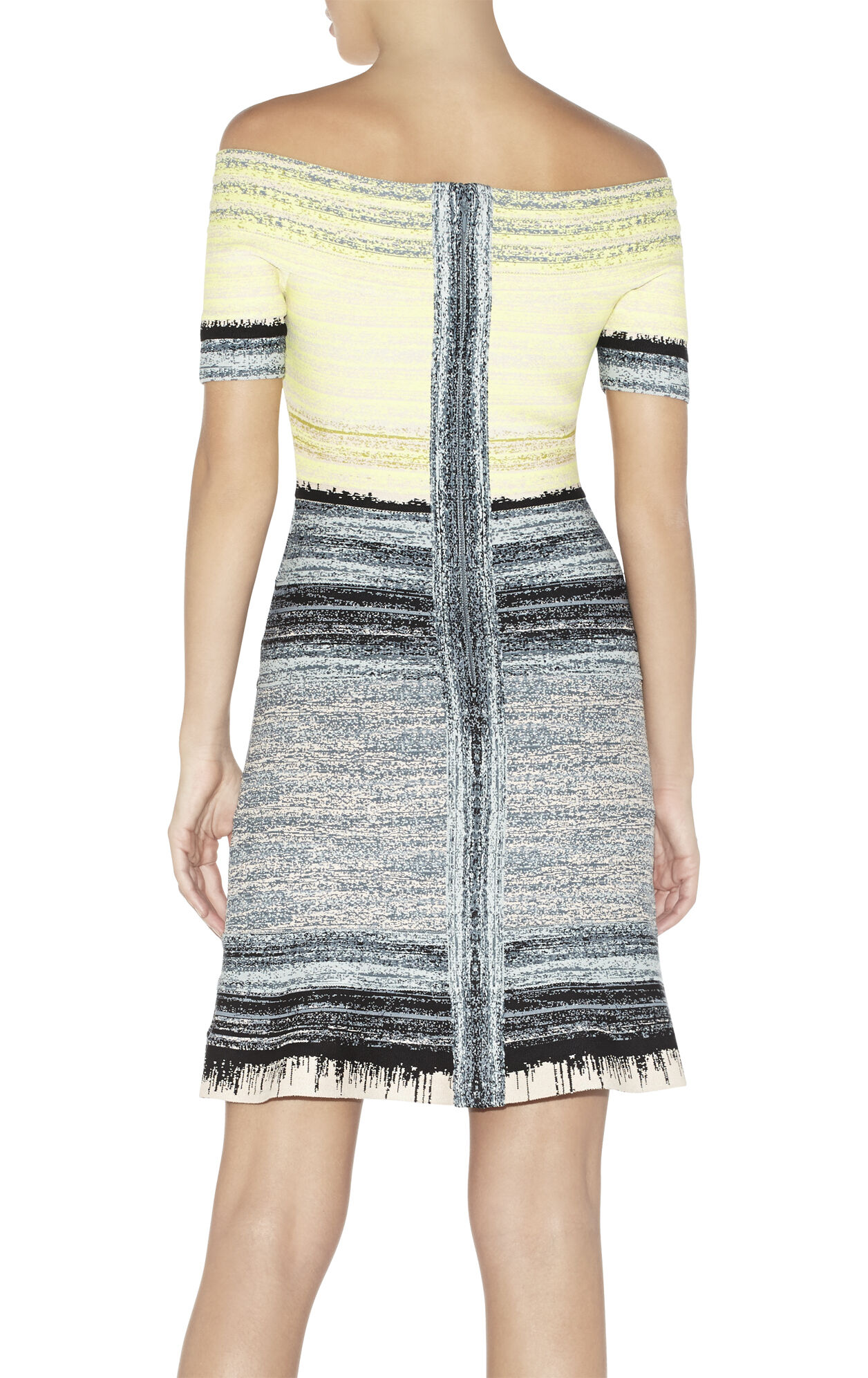 Liza Watercolor Jacquard Ombre Dress