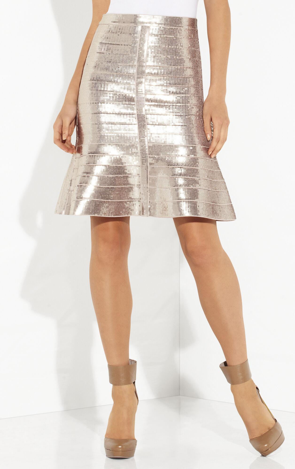 Kristyna Allover Sequined Skirt
