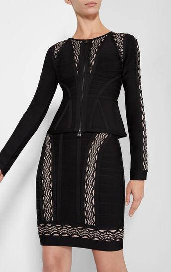 Idella Crochet Jacquard Insets Jacket