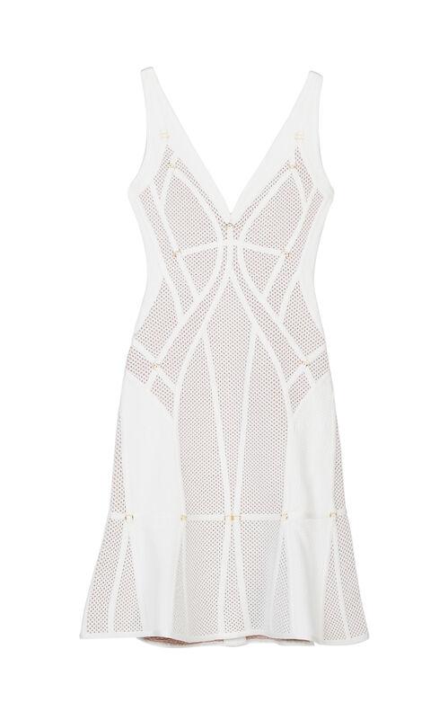 Celina Plaited Mesh Ring Detail Dress