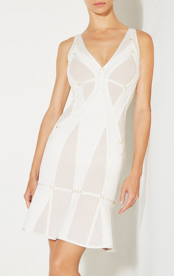 Celina Plaited Mesh Ring Detail Dress
