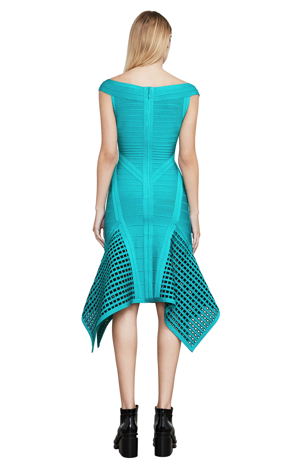 Jourdan Geometric Bandage Dress