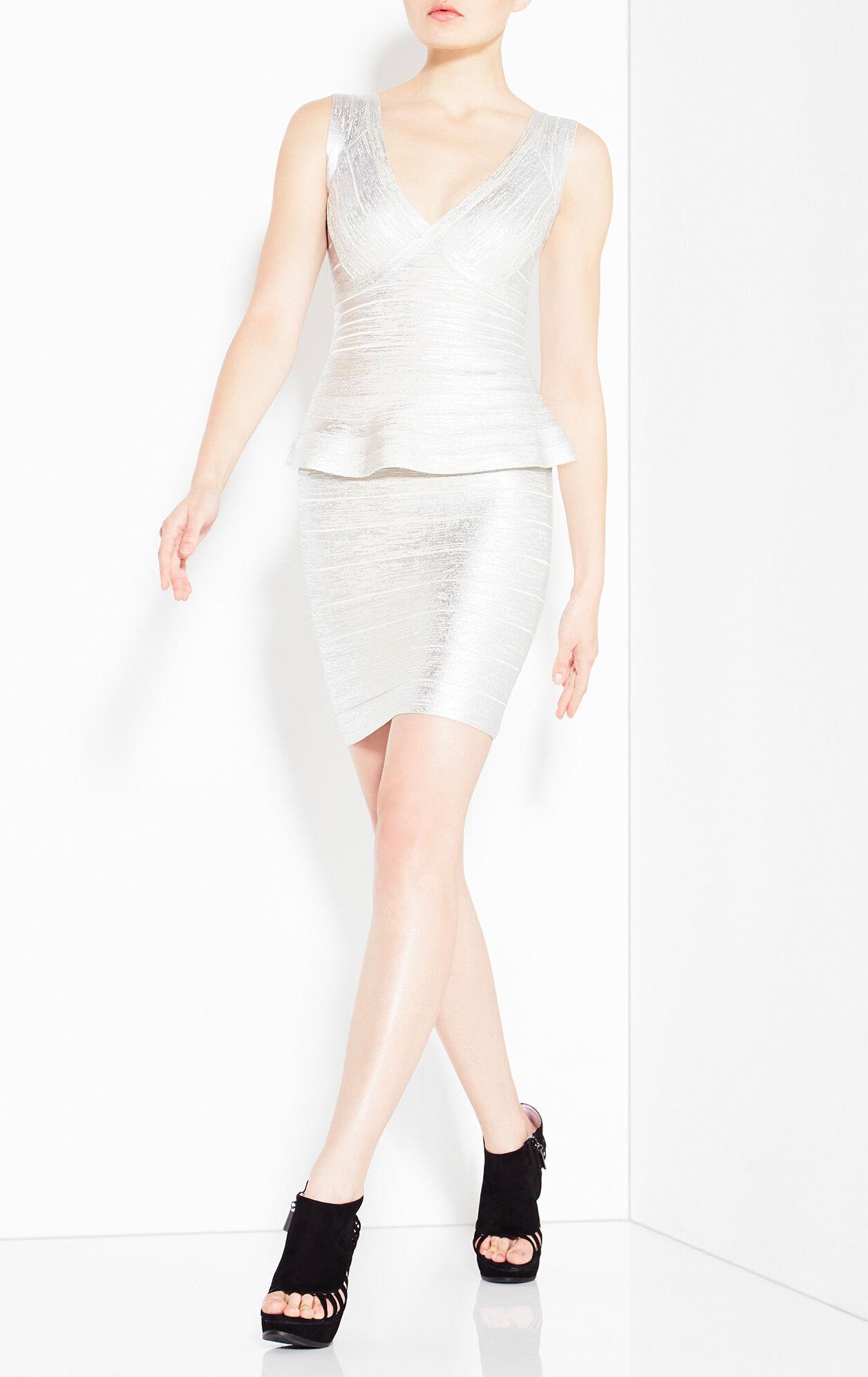 Rebeca Woodgrain Foil Print Dress
