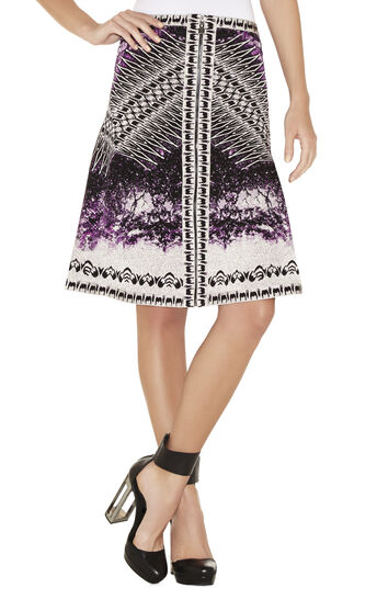 Veda Photographic Jacquard Skirt