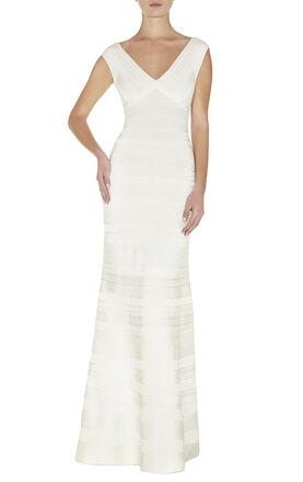 Esti Embossed-Texture Dress